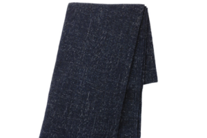 Photograph of Navy Blue Throw Blanket