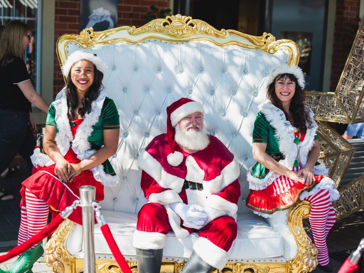 Santa at the Cottesloe Village Christmas Party
