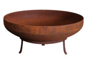 Photograph of Cast Iron Fire Pit with Stand (wood not included)