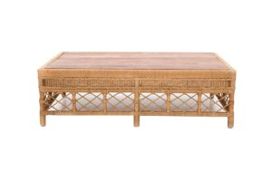 Photograph of Galley Bay Natural Rattan Coffee Table Small 1.39L x 58cmD x 40cmH