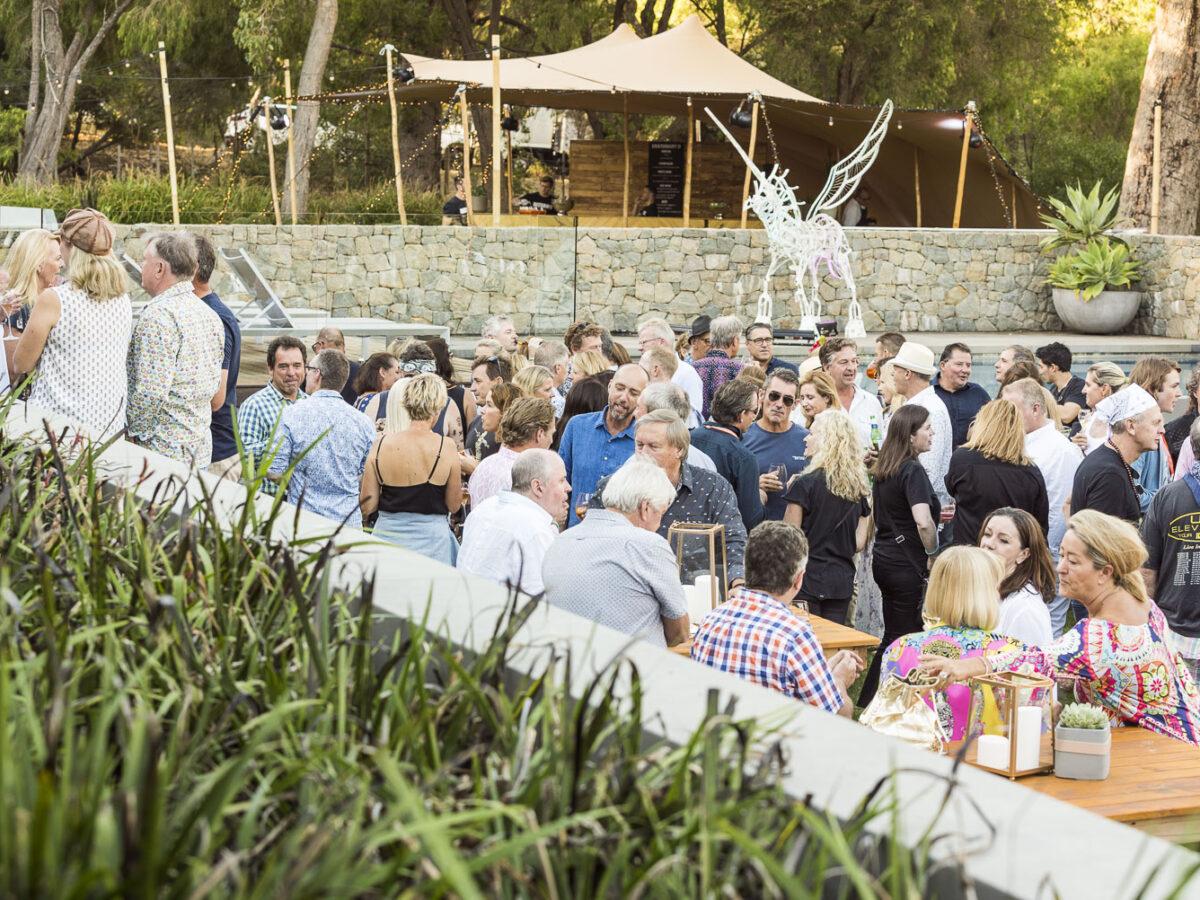 Guests mingling at Gristonbury