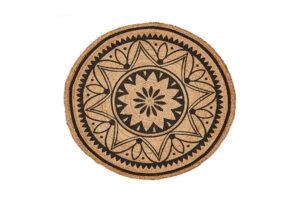 Photograph of Mandala Round Jute Rug