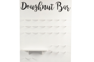 Photograph of Doughnut Wall White with Shelves