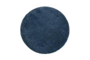 Photograph of Round Dark Blue Rug