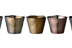 Photograph of Assorted Metallic Votives