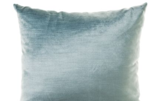 Photograph of Soft Blue Velvet Cushion – 42cmSQ