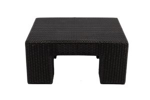 Photograph of Rattan Coffee Table Black Square
