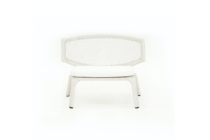Photograph of White Rattan Miami Lounger -1mW × 66cmD × 72cmH
