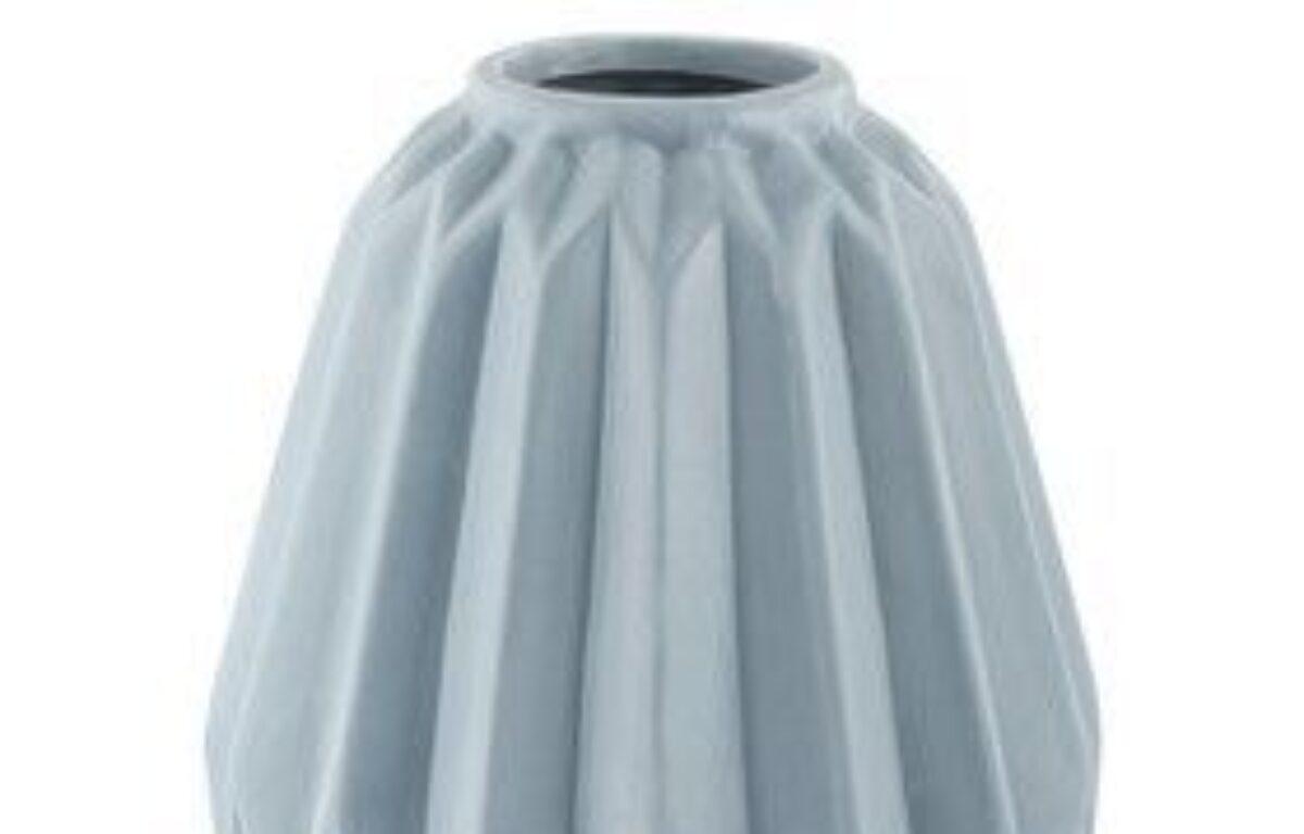 Dusty_Blue_Green_Ribbed_Vase