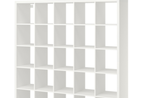 Photograph of White 25 Cube Shelving Unit