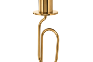 Photograph of Gold Candlestick Twisted