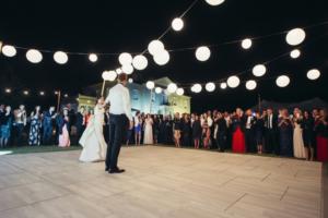 Photograph of White Wash Oak Dance Floor – 3.7m x 4.6m (Rectangle)