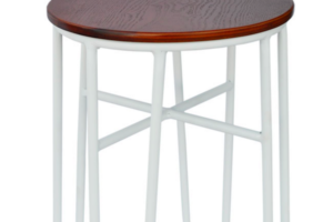 Photograph of Hairpin Stool White – 45cmH