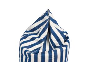 Photograph of Bean Bag Small – Blue and White Stripe – 80cm x 100cm