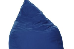 Photograph of Bean Bag  - Blue Teardrop  - 50cm x 50cm x 120cm