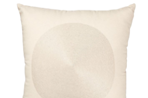 Photograph of Cream Circle Design Cushion