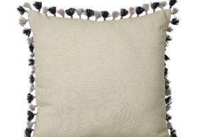 Photograph of Natural Linen Tassel Cushion