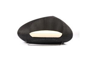 Photograph of Black Rattan Interlocking Lounge - Single Seater