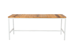 Photograph of Bench Dining Table with Pallet Top – 1.8mL x 70cmW x 75cmH
