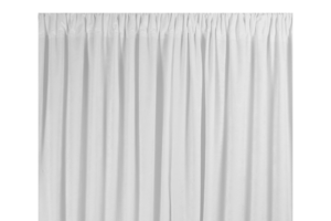 Photograph of White Chiffon Drape