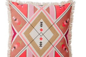 Photograph of Maya Tribal Pink Pattern Cushion – 42cmSQ