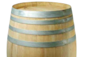 Photograph of Restored Wooden Wine Barrel