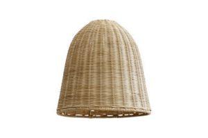 Photograph of Natural Rattan Pendant Lamp Shade – 30cmW x 30cmH