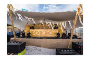 Photograph of Bedouin Stretch Tent Platinum Grey