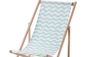 Photograph of Deckchair Blue and White Striped