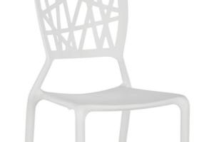 Photograph of Viento Replica Chair White – 44cmW x 50cmD x 84cmH