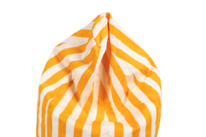 Photograph of Bean Bag Small – Yellow and White Stripe – 80cm x 100cm