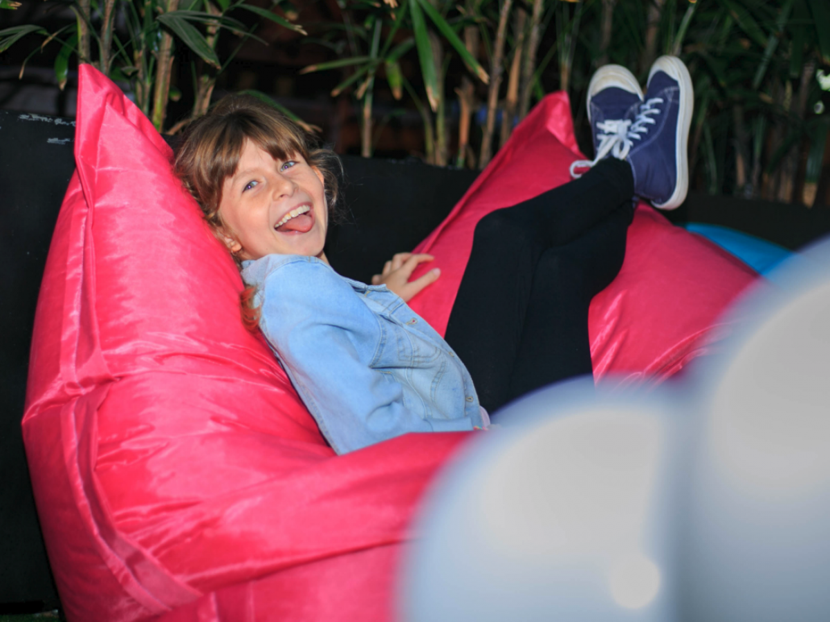 Large Hot Pink Beanbags