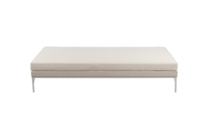 Photograph of White Rattan Daybed - White Cushion