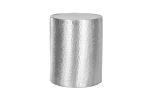 Photograph of Hammered Aluminium Round Side Table