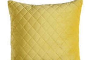 Photograph of Yellow Diamond Stitch Cushion – 45cmSQ