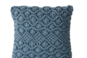 Photograph of Dusty Blue Macrame Cushion