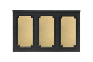Photograph of Gold Mirror Insert (suits Black Wainscoting Bar) – 2mL x 60cmD x 1.1mH