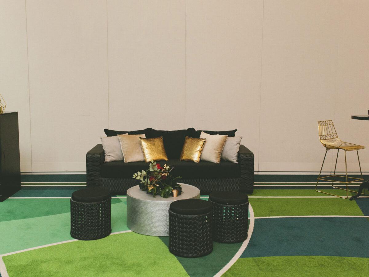 Black Rattan Lounge Setting